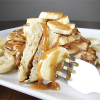 Thumbnail image for Banana Bread Pancakes with PB Syrup