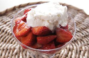 strawberries with balsamic vinegar