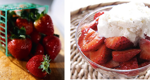 strawberries and balsamic strawberries