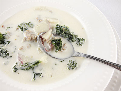 Post image for Sausage, Potato and Kale Soup