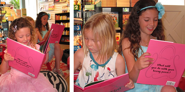 Lauren and Taylor reading The Heavy Purse