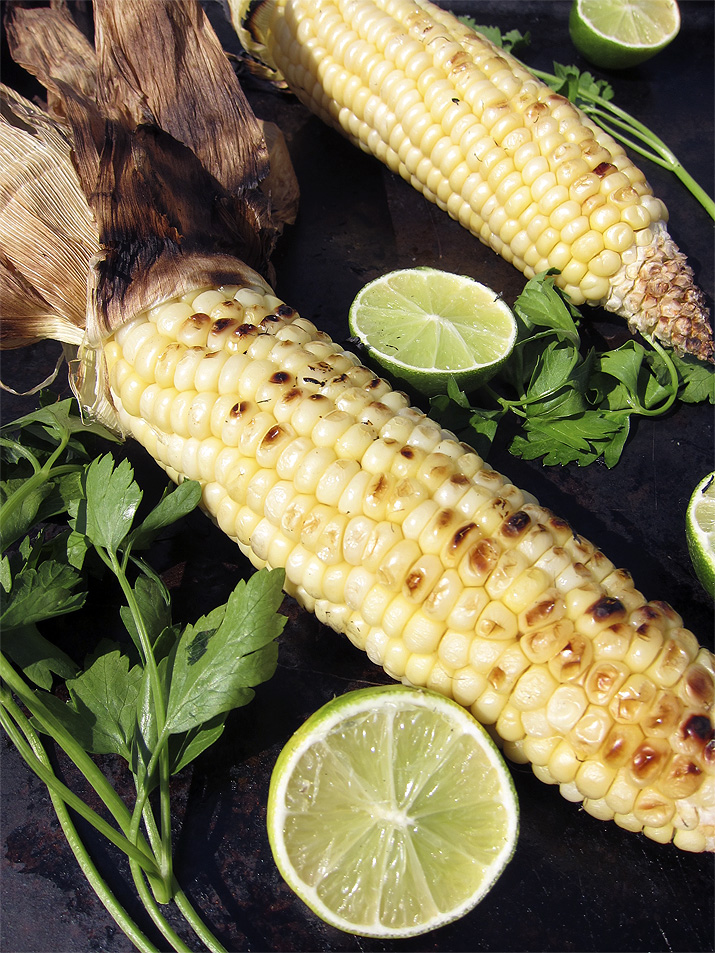 Grilled Sweet Corn with Chili Lime Butter