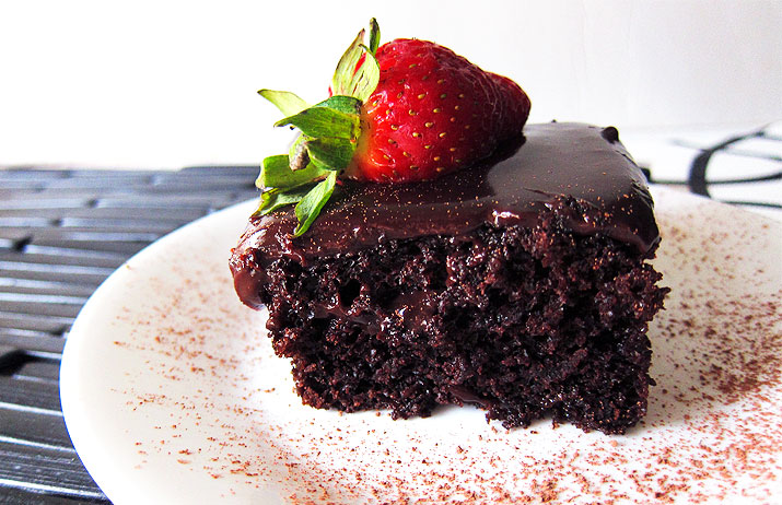 One Bowl Chocolate Cake with Dreamy Chocolate Ganache