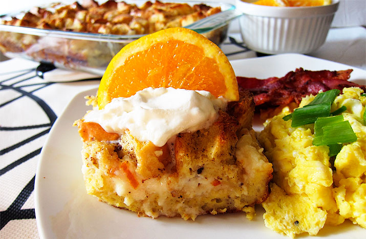 French Toast Bake with Orange Marmalade Cream Cheese