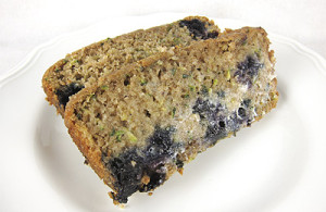Healthy Healthy Blueberry Zucchini Bread