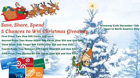 Christmast #Giveaway from November 29-December 13, 2013