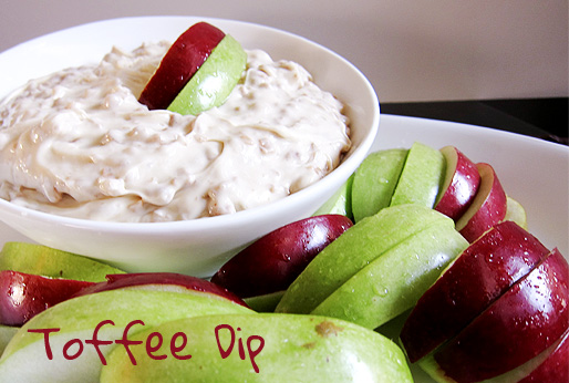 Toffee Dip with Sliced Apples