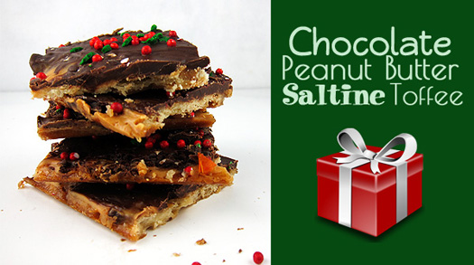Chocolate Peanut Butter Saltine Toffee from www.EatLaughPurr.com #ChristmasCandy