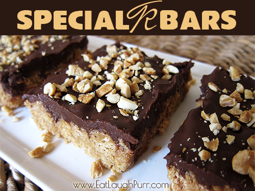 Special K Bars from www.EatLaughPurr.com #SpecialK #bars #chocolate #peanutbutter