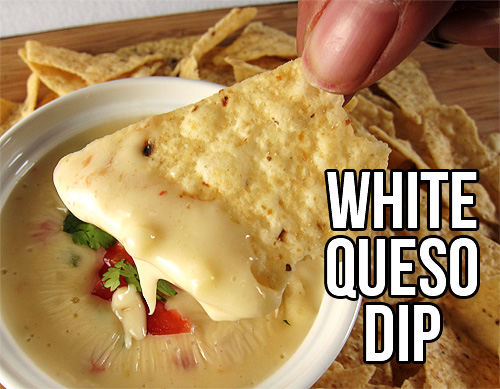 White Queso Dip #Dip #Cheese #Appetizer
