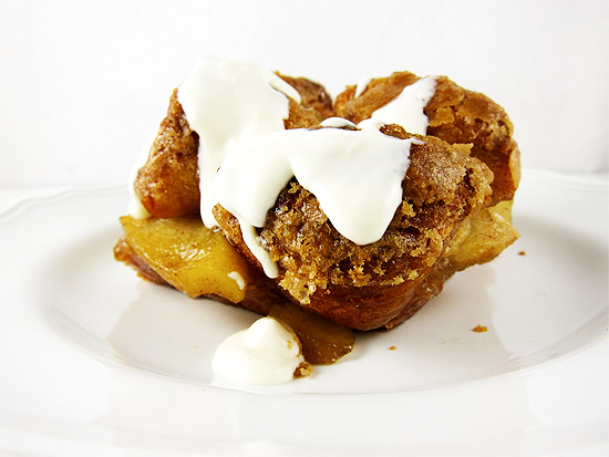 Monkey Bread With Cream Cheese Glaze Recipe — Dishmaps