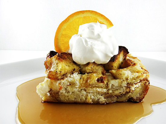baked french toast with orange marmalade cream cheese