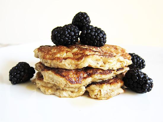 buttermilk oat pancakes