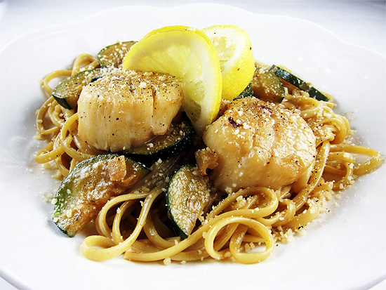 spicy scallop linguine