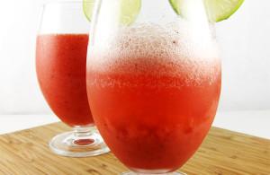 strawberry limeade cooler