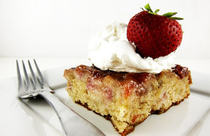 strawberry rhubarb cake