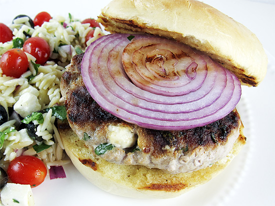 turkey feta burger