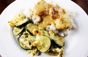 Zucchini Bake with Feta Cheese