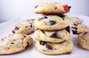 Peppermint Crunch Cookies   www.EatLaughPurr.com #ChristmasCookies #peppermint #chocolatechips