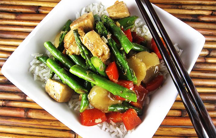 Ginger Lemon Chicken Asparagus | www.EatLaughPurr.com