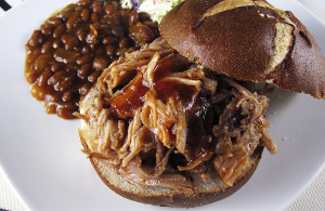 Hard Cider Pulled Pork Sandwiches