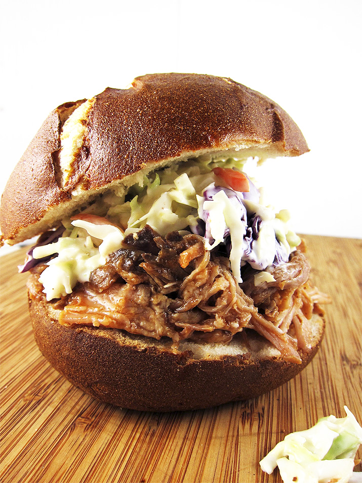 Hard Cider Pulled Pork Sandwich