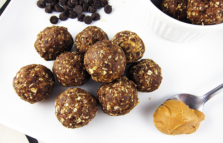 Chocolate Peanut Butter Protein Bites