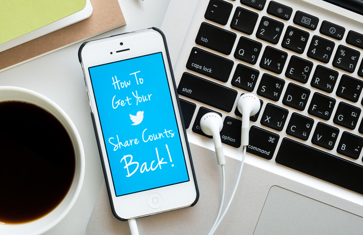 How To Get Your Twitter Share Counts Back