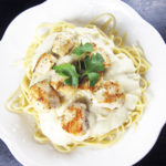 Spicy Roasted Garlic Cauliflower Alfredo Sauce