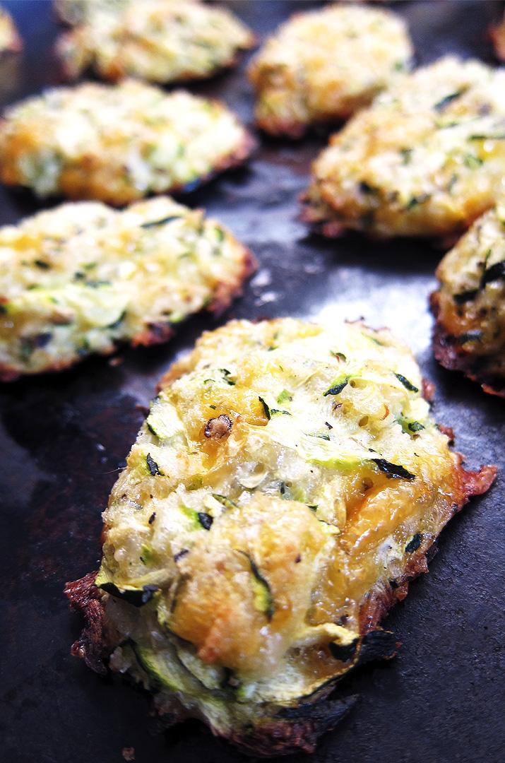 Baked Cheesy Zucchini Tots
