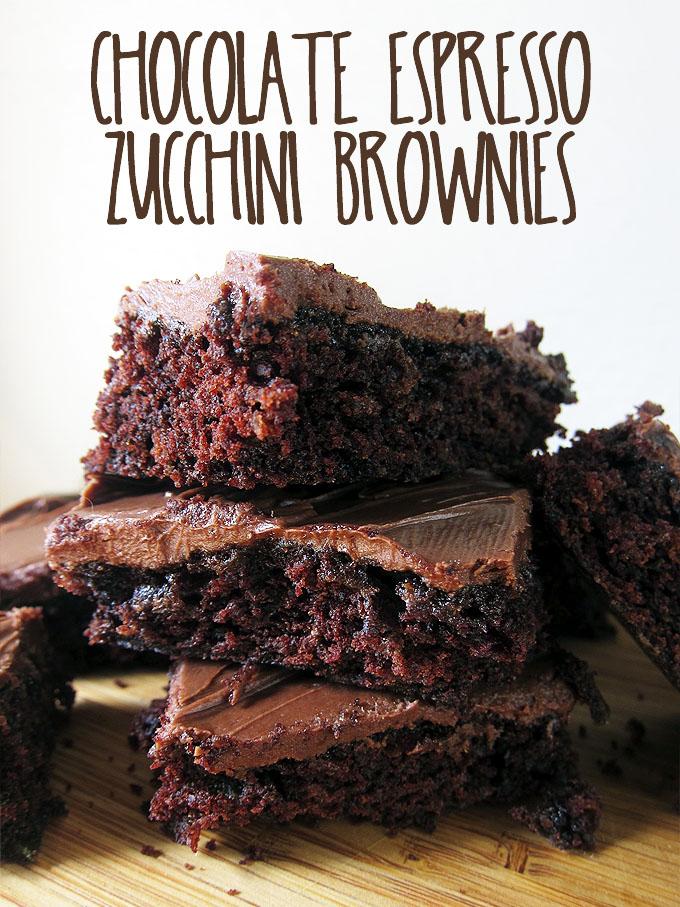 Chocolate Espresso Zucchini Brownies