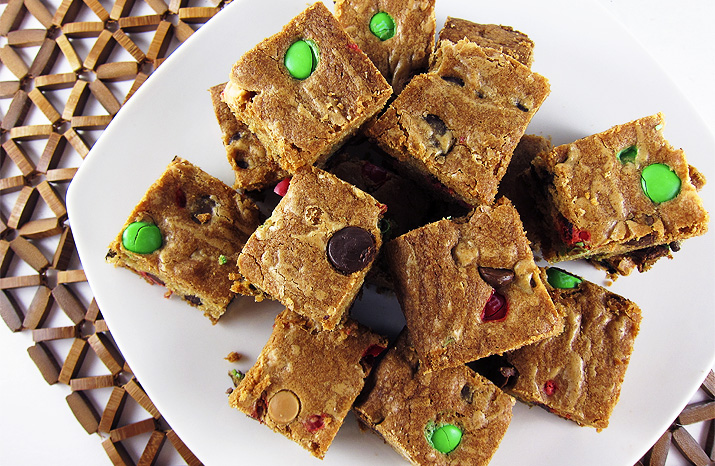 Chocolate Candy Cookie Bars