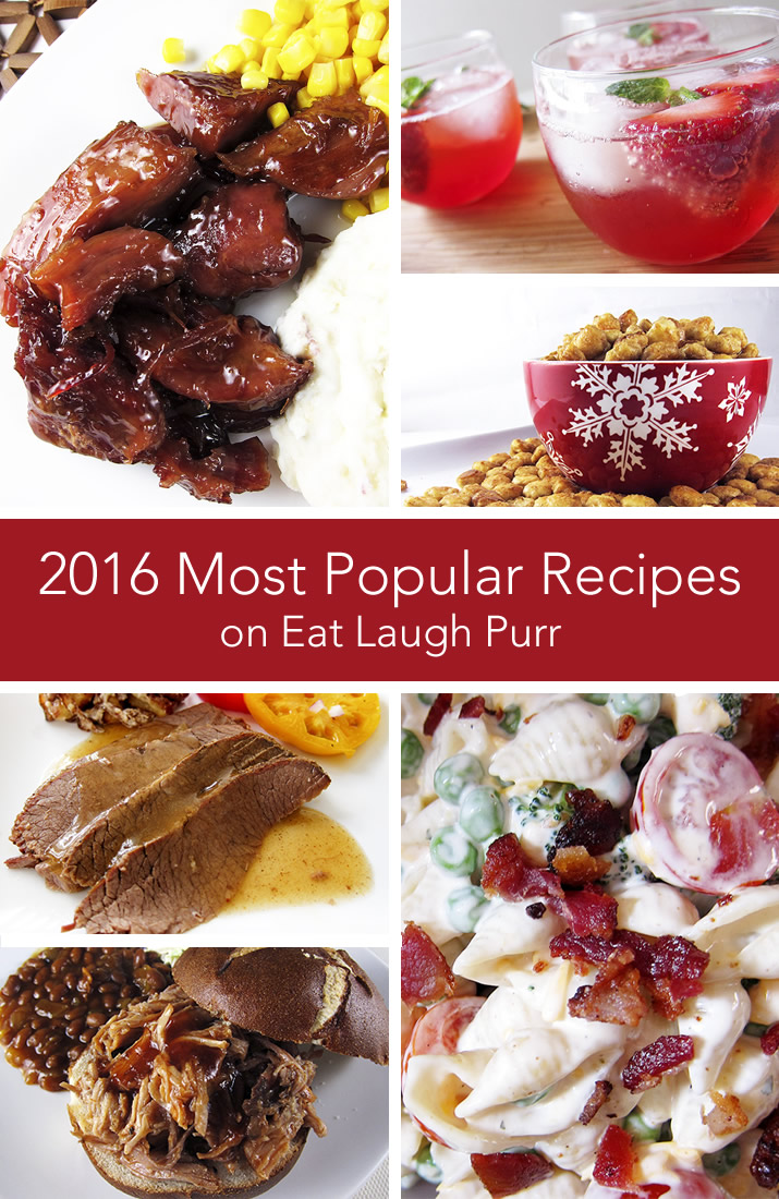 The Top 10 Recipes from 2016, including strawberry cheesecake poke cake, ranch bacon pasta salad, beef brisket, best grilled hamburger and much, much more!